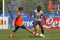 Napoli Calcio ritiro precampionato a Dimaro ( TN)  18 Luglio 2014<br /> nella foto    Duvan Zapata <br /> Napoli soccer pre season summer training in Dimaro