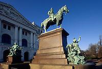 Deutschland, Hamburg-Altona, Denkmal Wilhelm I vor Rathaus