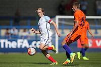 Goalscorer Tom Davies of England in action during the International match between England U19 and Netherlands U19 at New Bucks Head, Telford, England on 1 September 2016. Photo by Andy Rowland.