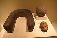 Mayan ball game artifacts in the Museo Nacional de Antropologia David J. Guzman in San Salvador, El Salvador