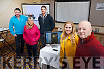 In attendance at the Mobile Film Workshop held in the Brandon Hotel on Saturday morning last. Standing l-r, Maura Ni Leabha, Mark Leen, Owen Murphy, Andrea Thornton and Bob Corkey (Instructor)