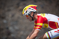 Craig Alexander on the bike at the 2013 Ironman World Championship in Kailua-Kona, Hawaii on October 12, 2013.