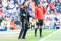 Atletico de Madrid coach Diego Simeone during La Liga match between Real Madrid and Atletico de Madrid at Santiago Bernabeu Stadium in Madrid, Spain. April 08, 2018. (ALTERPHOTOS/Borja B.Hojas) /NortePhoto NORTEPHOTOMEXICO