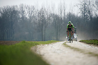 Team Cannondale-Garmin on the cobbles<br /> <br /> 2015 Paris-Roubaix recon