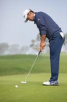 25th January 2020, Torrey Pines, La Jolla, San Diego, CA USA;  Hideki Matsuyama putting <br /> during round 3 of the Farmers Insurance Open at Torrey Pines Golf Club on January 25, 2020