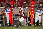 Wisconsin Badgers running back James White (20) returns a kick during an NCAA college football game against the UNLV Rebels on September 1, 2011 in Madison, Wisconsin. The Badgers won 51-17. (Photo by David Stluka)