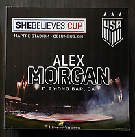 Columbus, Ohio - Thursday March 01, 2018: Alex Morgan, USWNT SheBelieves Cup during a 2018 SheBelieves Cup match between the women's national teams of the United States (USA) and Germany (GER) at MAPFRE Stadium.