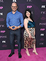 """09 August 2019 - West Hollywood, California - Brad Simpson, Alexis Martin Woodall. Red Carpet Event For FX's """"Pose"""" held at Pacific Design Center.   <br /> CAP/ADM/BT<br /> ©BT/ADM/Capital Pictures"""
