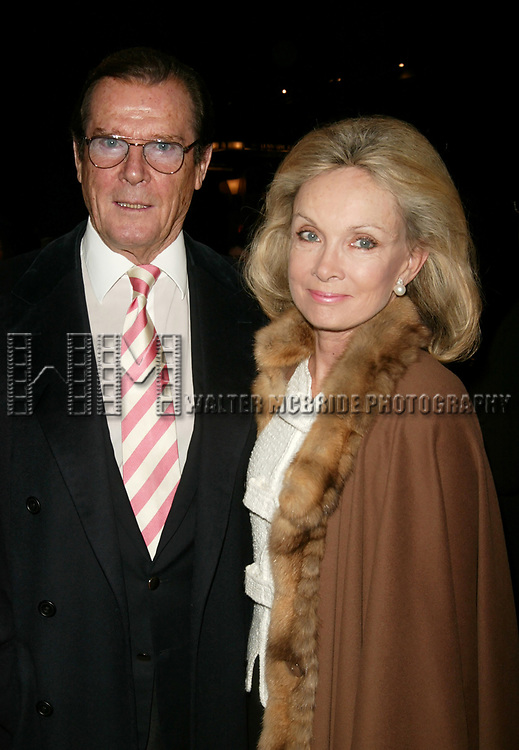 Roger Moore with his wife Christina Tholstrup<br />Attend the Opening Night Celebration as Whoopi Goldberg returns to Broadway in WHOOPI, the new, updated version of the one-woman show that launched her career. The twelve week limited engagement plays at the Lyceum Theatre in New York City.<br />November 17, 2004