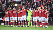 4th November 2017, Ashton Gate, Bristol, England; EFL Championship football, Bristol City versus Cardiff City; Bristol City observe one minutes silence before the match