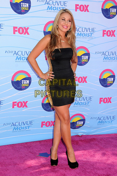Haley Reinhart.FOX's 2012 Teen Choice Awards held at The Gibson Ampitheatre in Universal City, California, USA..July 22nd, 2012.full length black strapless dress hands on hips.CAP/ADM/BP.©Byron Purvis/AdMedia/Capital Pictures.