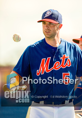 23 February 2013: New York Mets' third baseman David Wright finishes batting practice prior to opening the Grapefruit League Season with a Spring Training Game against the Washington Nationals at Tradition Field in Port St. Lucie, Florida. The Mets defeated the Nationals 5-3. Mandatory Credit: Ed Wolfstein Photo *** RAW (NEF) Image File Available ***
