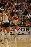 24 September 2005: Kristin Richards during Stanford's 3-0 win over UCLA at Maples Pavilion in Stanford, CA.
