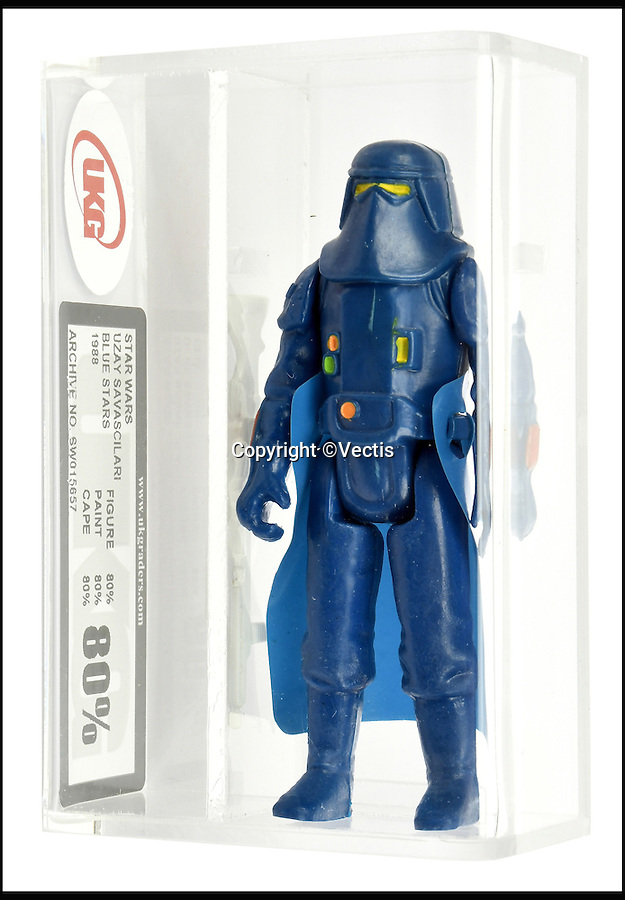 BNPS.co.uk (01202 558833)<br /> Pic: Vectis/BNPS<br /> <br /> Star Wars Uzay (Turkey) Savascilari Blue Stars bootleg Stormtrooper estimate £2,000.<br /> <br /> One man's huge collection of Star Wars action figures is set to earn him a staggering £500,000 when it sells at auction.<br /> <br /> Included in the vast alliance - widely regarded as the world's best - is an incredibly rare prototype of the bounty hunter character Boba Fett which is tipped to sell for £20,000 alone.<br /> <br /> The unnamed Frenchman has been collecting the plastic toys since the first Star Wars movie came out in 1977.<br /> <br /> They are being sold by County Durham toy auctioneers Vectis.