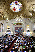 BOGOTÁ -COLOMBIA. 20-07-2017: Ceremonia de instalación de la legislatura 2017 2018 del Congreso de la República de Colombia realizado hoy, 20 de julio de 2017, en el salón Elíptico del Capitolio Nacional de Colombia en la ciudad de Bogotá. / Ceremony of installation of the Legistature 2017 2018 of the Congress of the Republic of Colombia made today,  July 20 2017, at Ellipptical room of the National Capitol of Colombia in Bogota city . Photo: VizzorImage/ Gabriel Aponte / Staff