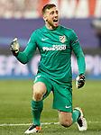 Atletico de Madrid's Jan Oblak celebrates goal during Champions League 2015/2016 Quarter-Finals 2nd leg match. April 13,2016. (ALTERPHOTOS/Acero)