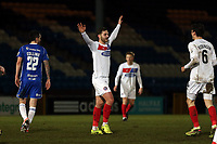 Charlee Adams of Dagenham  celebrates scoring the opening goal during FC Halifax Town vs Dagenham & Redbridge, Vanarama National League Football at The Shay on 13th March 2018