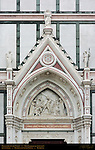 Discovery of the Cross Tito Sarrocchi 1863 Left Portal Lunette Pediment and Sculptures Santa Croce Florence