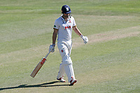 Alastair Cook of Essex leaves the field having been dismissed for 0 during Essex CCC vs Nottinghamshire CCC, Specsavers County Championship Division 1 Cricket at The Cloudfm County Ground on 22nd June 2018