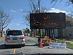 The COVID_!9 testing site in New Rochelle, Westchester, New York