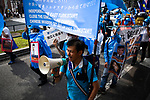 JUNE 29, 2019 - Protestors from China's Uyghur ethnic group march in a demonstration protesting the Chinese government during the G20 Summit in Osaka, Japan. (Photo by Ben Weller/AFLO) (JAPAN) [UHU]