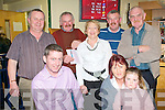 CORNER BAR SYNDICATE: Having a great at the Kingdom Greyhound Stadium Night at the Dogs on Friday seated l-r: Brendan Maunsell Abbeydorney, Theresa Reidy Ballyheigue and Sarah Kate Maunsell Abbeydorney. Back l-r: John Reidy Ballyheigue, Mike McKenna Lixnaw, Eileen Higgins Causeway and Moss and Vincent McKenna Lixnaw.