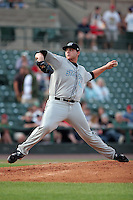 August 12 2008:  Starting Pitcher Brett Cecil (44) of the Syracuse Chiefs, Class-AAA affiliate of the Toronto Blue Jays, during a game at Frontier Field in Rochester, NY.  Photo by:  Mike Janes/Four Seam Images