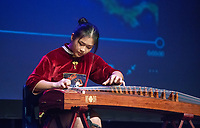 NWA Democrat-Gazette/BEN GOFF @NWABENGOFF<br /> Chloe Liu Jiehuan plays 'Hurricane' on the Guzheng Saturday, Feb. 10, 2018, during the Chinese New Year Gala presented by the Chinese Association of Northwest Arkansas at Springdale Har-Ber High. The event celebrated the Year of the Dog with a dinner and a show featuring traditional and contemporary Chinese dance, music, fashion and more.