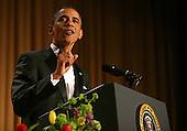United States President Barack Obama speaks at the annual White House Correspondent's Association Gala at the Washington Hilton Hotel, Washington, DC,Saturday, April 30, 2011..Credit: Martin Simon / Pool via CNP