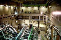 The engine room of the Mary Maersk, the largest container ship in the world.