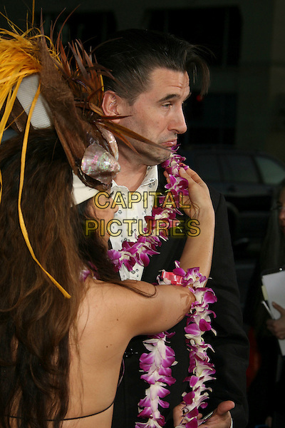 "BILLY BALDWIN .""Forgetting Sarah Marshall"" Los Angeles Premiere held at Grauman's Chinese Theatre, Hollywood, California, USA, 10 April 2008..half length girl flower garland side profile .CAP/ADM/RE.©Russ Elliot/Admedia/Capital PIctures"