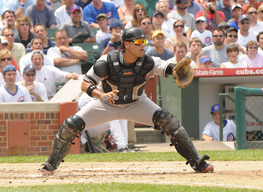 GUILLIERMO QUIRZO, of the Baltimore Orioles , in action against the Chicago Cubs  during the Orioles game on June 26, 2008 in Chicago, IL. The Orioles won the game11-4.