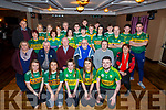The launch of  the Kerry Camogie &ldquo;Stars in their Eyes&rdquo; fundraiser in the Forge Bar in Causeway on Thursday night.<br /> Seated l to r: Mary Roche, Ger McCarthy, John Brassil and Murt Murphy (Judges) with Risteard Foran and Geraldine Behan.