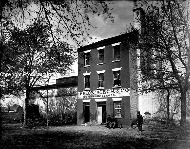 Slave Pen of Price, Birch and Co.  Alexandria, Va.  Capt. Andrew J. Russell.  Mathew Brady Collection.  (Army)<br /> Exact Date Shot Unknown