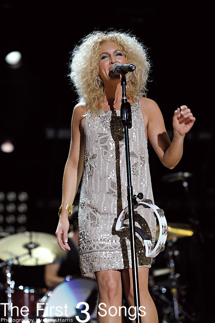 Kimberly Schlapman of Little Big Town performs at LP Field during the 2011 CMA Music Festival on June 11, 2011 in Nashville, Tennessee.