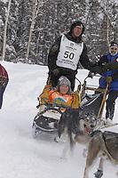 Brent Sass Saturday, March 3, 2012  Ceremonial Start of Iditarod 2012 in Anchorage, Alaska.