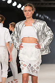 Collection by Anna Murphy from Northumbria University Newcastle. Graduate Fashion Week 2014, Runway Show at the Old Truman Brewery in London, United Kingdom. Photo credit: Bettina Strenske