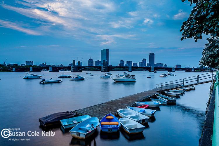 Dawn on the Charles River, Boston, Massachusetts, USA