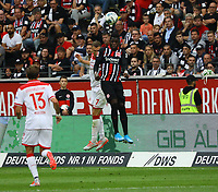 Danny da Costa (Eintracht Frankfurt) gewinnt das Kopfballduell - 01.09.2019: Eintracht Frankfurt vs. Fortuna Düsseldorf, Commerzbank Arena, 3. Spieltag<br /> DISCLAIMER: DFL regulations prohibit any use of photographs as image sequences and/or quasi-video.