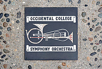 Occidental College Symphony Orchestra tile in the courtyard of Booth Hall, May 12, 2018.<br />