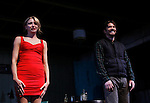 Guiding Light's Tom Pelphrey and Nina Arianda (curtain call) star in Broadway's Fool For Love on opening night - October 8, 2015 at the Samuel J. Friedman Theatre, 47th Street, New York City, New York with after party. (Photo by Sue Coflin/Max Photos)