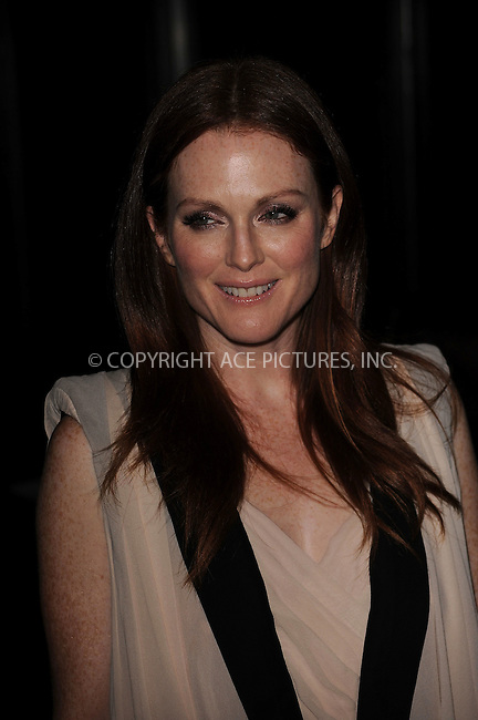 WWW.ACEPIXS.COM . . . . . ....November 15 2009, New York City....Actress Julianne Moore arriving at The Cinema Society & A Diamond Is Forever screening of 'The Private Lives Of Pippa Lee' at AMC Loews 19th Street on November 15, 2009 in New York City.....Please byline: KRISTIN CALLAHAN - ACEPIXS.COM.. . . . . . ..Ace Pictures, Inc:  ..(212) 243-8787 or (646) 679 0430..e-mail: picturedesk@acepixs.com..web: http://www.acepixs.com