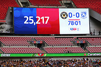 Today's attendance 25,217 during Newport County vs Tranmere Rovers, Sky Bet EFL League 2 Play-Off Final Football at Wembley Stadium on 25th May 2019