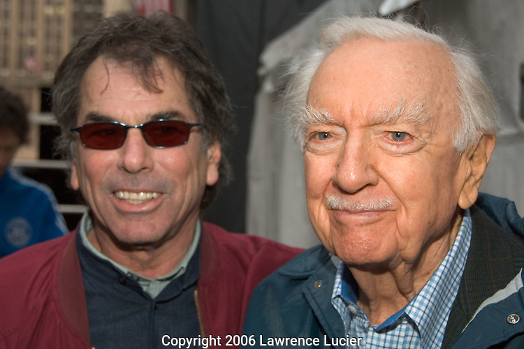 Former Grateful Dead drummer Mickey Hart and newscaster Walter Cronkite appear at the Green Apple Music and Arts Festival April 21, 2006, at Grand Central Station in New York City.
