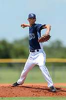 GCL Rays starting pitcher Michael Mercado (16) during a game against the GCL Orioles on July 28, 2017 at Charlotte Sports Park in Port Charlotte, Florida.  GCL Rays defeated the GCL Orioles 8-7.  (Greg Wagner/Four Seam Images)