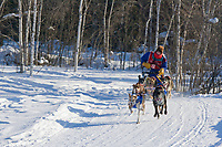 Musher Deb McGrath, 2007 Limited North American Championship Sled dog race in Fairbanks, Alaska.