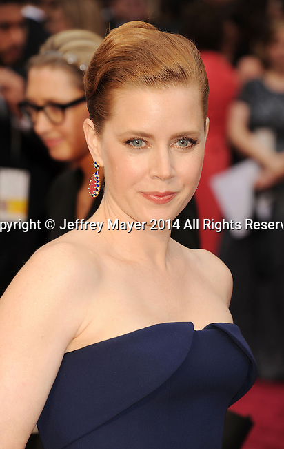 HOLLYWOOD, CA- MARCH 02: Actress Amy Adams attends the 86th Annual Academy Awards held at Hollywood & Highland Center on March 2, 2014 in Hollywood, California.