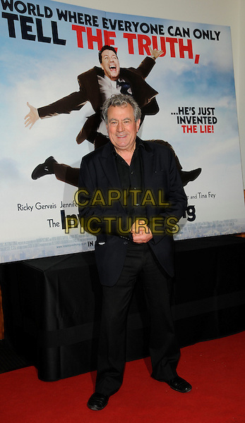 "TERRY JONES .At ""The Invention of Lying"" UK Gala Screening, BAFTA, Piccadilly, London, England, UK, October 1st 2009..full length black suit poster .CAP/CAN.©Can Nguyen/Capital Pictures"