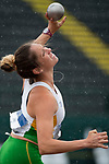 EUGENE, OR - JUNE 09: Jenna Pfeiffer of Baylor University competes in the shot put as part of the Heptathlon during the Division I Women's Outdoor Track & Field Championship held at Hayward Field on June 9, 2017 in Eugene, Oregon. (Photo by Jamie Schwaberow/NCAA Photos via Getty Images)