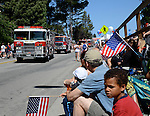 Aptos Fire engines in 4th of July Parade
